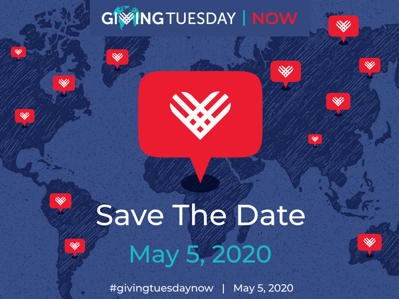 #GivingTuesdayNow takes place on 5 May 2020